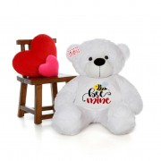 Big 5 Feet Personalized Teddy Bear wearing Bee Mine Tshirt - Choose From 7 Colors