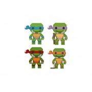 Funko 4 Pop Set Retro Tortugas Ninja Raphael Leonardo Donatello Michelangelo