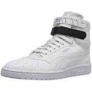 PUMA Women's Sky Ii Hi Sf Texture Wn's Basketball Shoe, Puma White/Puma Black, 8. 5 M US