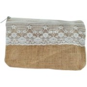 JUTE STORY BEYOND BARS Cosmetic Pouch(Tan)