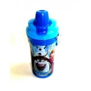 K&M World 500ml Frozen Push Button Water Bottle for School Kids/Girls/Red/High Quality/Durable/Leak Proof