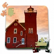 Danita Delimont - Lighthouses - Two Harbors Lighthouse, Lake Superior, USA - US24 DFR0016 - David R. Frazier - 10x10 inch Puzzle (pzl_144720_2)