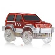 New LED Racing Car Toys Mini DIY Assemble Race Track Cars
