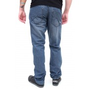 nadrág férfi -farmer- SLIM FIT - GLOBE - Sixx - GREY-BLUE