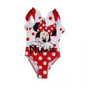 Costum de baie intreg Minnie Mouse rosu 8ani (128cm)