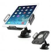 Shop4 - Universele Tablethouder Auto Raam- en Dashboard Verstelbaar Zwart