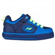 Role Hellys X2 Thunder albastru cu verde neon 35