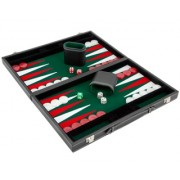 Set joc table Backgammon in stil Casino Compact 38x47 cm Verde
