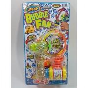 Flashing Lite Up LED Bubble Gun Bubble Baster Squirt Large Bubbles Large Fan Blower