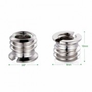 Cam Cart Branded Adapter Screw 1/4 to 3/8 Fit in All Tripods and Monopods Set of 2 Pcs