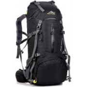 FuerDanni Camping Hiking backpack travel bag mountaineering back bags Rucksack - 55 L(Black)