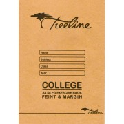 TREELINE A4 48 pg COLLEGE EXERCISE BOOK FEINT AND MARGIN