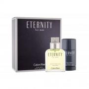 Calvin Klein Eternity For Men set cadou EDT 100 ml + Deodorant stick 75 ml pentru bărbați