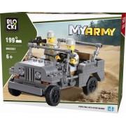Joc constructie, My Army, Jeep militar, 199 piese Blocki
