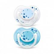 Avent SCF176/18 Játszócumi - éjszakai fluoreszkáló 0-6 hó (kék)