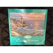 Coastal Visions - Sunset at Lighthouse Point - 1000 Piece Puzzle