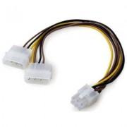 Adapter, MAKKI, 2xMolex to 6pin PCI-E VGA (CE313-0.15m)