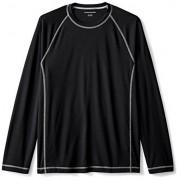 Amazon Essentials playera de natación para hombre de manga larga de secado rápido UPF 50, Negro, grande