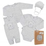 NEW BABY Kojenecká soupravička do porodnice New Baby Sweet Bear šedá 41162