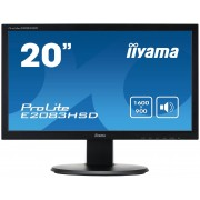"IIYAMA ProLite E2083HSD-1 - Monitor LED - 20"" (19.5"" visível) - 1600 x 900 - TN - 250 cd/m² - 1000:1 - 5 ms - DVI-D, VGA - alti"