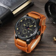 Ceas barbatesc Curren Aviator Large, Brown