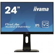 24'' LCD iiyama XUB2492HSU-B1 -IPS, 5ms, 250cd/m2, 1000:1 (5M:1 ACR), DP, USB hub, HDMI, repro, pivot
