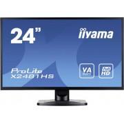Iiyama X2481HS-B1 LED-monitor 59.9 cm (23.6 inch) Energielabel B (A+ - F) 1920 x 1080 pix Full HD 6 ms VGA, DVI, HDMI VA LED