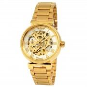 Winner Goldene Armbanduhr Mit Römischen Ziffern