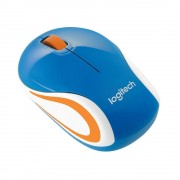 logitech mini mouse m187 - azul