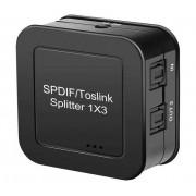 Active 1x3 Digital Optical Toslink Splitter - SPDIF audio splitter - 1 x Input and 3 x Outputs