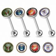 """Piercing Street"" ""Piercing langue logo militaire USA"""