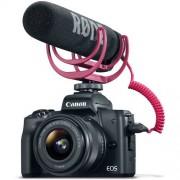 Canon EOS M50 + EF-M 15-45 IS STM + VideoMic GO - Nera - 2 ANNI DI GARANZIA