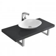 PremiumXL - [neu.haus] Umivaonički pult - sa umivaonik - set (siva)