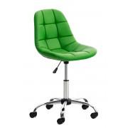 CLP Chaise de bureau Emil similicuir, vert CLP vert, hauteur de l'assise