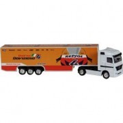 NEW RAY Moto Miniatura New Ray Repsol Honda Racing Team Truck 1:87