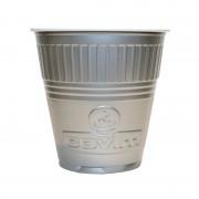 Pahare Plastic Coveris Expert Logo Covim Argintii, 166 ml, 3600 buc