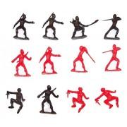 """Ninja Action Figure 12 Pack ~ Set of 10 Unique Figures (1.5"""" x 2"""" Each)"""