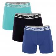 Muchachomalo Boxershorts Blue/Turqoise/Black 3-pack-S