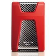 Adata HD650 series , 500Gb Redblack , triple-layer construction with silicone material , with HDD transmission status LED , usb 3.0 (usb2.0 backward compatible ) , usb-powered , 132x99x21.5mm , with OStoGO HDDtoGo utilities 60days trial norton internet