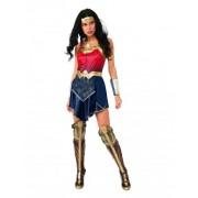 Vegaoo Wonder Woman-Damenkostüm Lizenz-Verkleidung blau-rot-gold