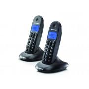 Motorola Teléfono inalámbrico Dúo MOTOROLA Lite C1002 negro