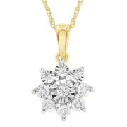 9ct Yellow Gold .10ct Diamond Necklace