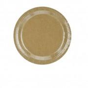 Santex Assiette Jetable Kraft x10