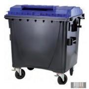 1100 L Műanyag Lapos fedelű Konténer - Szelektív PAPÍR