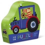 Puzzle Tigrul Tractorist în Cutie cu Formă Originală