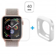Conjunto de Protecção Hat Prince para Apple Watch Series 5/4 - 40mm - Branco