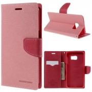 Korean Mercury Fancy Diary Wallet Case for Samsung Galaxy S6 Edge Plus Light Pink