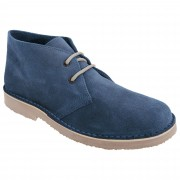 Roamers Mens Real Suede Round Toe Unlined Desert Boots Navy 12 UK