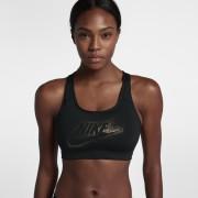 Brassière à maintien normal Nike Classic Swoosh Futura Sparkle pour Femme - Noir