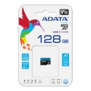 ADATA 128GB MicroSDXC minneskort, UHS-I, Klass 10, A1